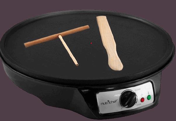 NutriChef Nonstick 12-inch Electric Crepe Maker