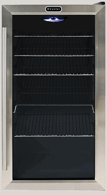 Whynter BR-130SB Beverage Refrigerator Large Capacity Undercounter Fridge
