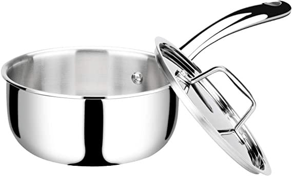Duxtop Whole-Clad Tri-Ply Stainless Steel Saucepan with Lid